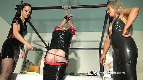 Bound TV maid tested part 2